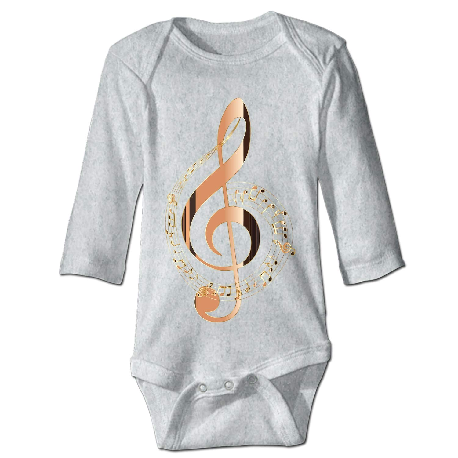 shunshunfeng Music Notes Render Infant Baby Boys Girls Clothing Shirts Long Sleeves Rompers Jumpsuit
