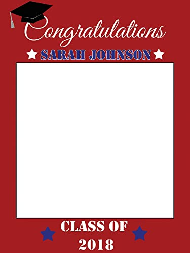 Amazon.com: Large Custom Graduation Class of 2018 Photo Booth Frame ...