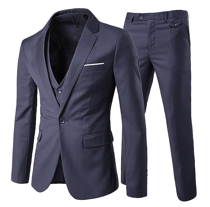 0481228ed5 Trajes para Hombres 3 Piezas Elegante Traje de Estilo Occidental Blazer  Chalecos y Pantalones  Amazon.es  Ropa y accesorios