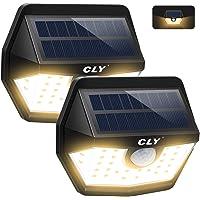 Luz Solar Exterior CLY 3000K,Aplique Solar 30 LED