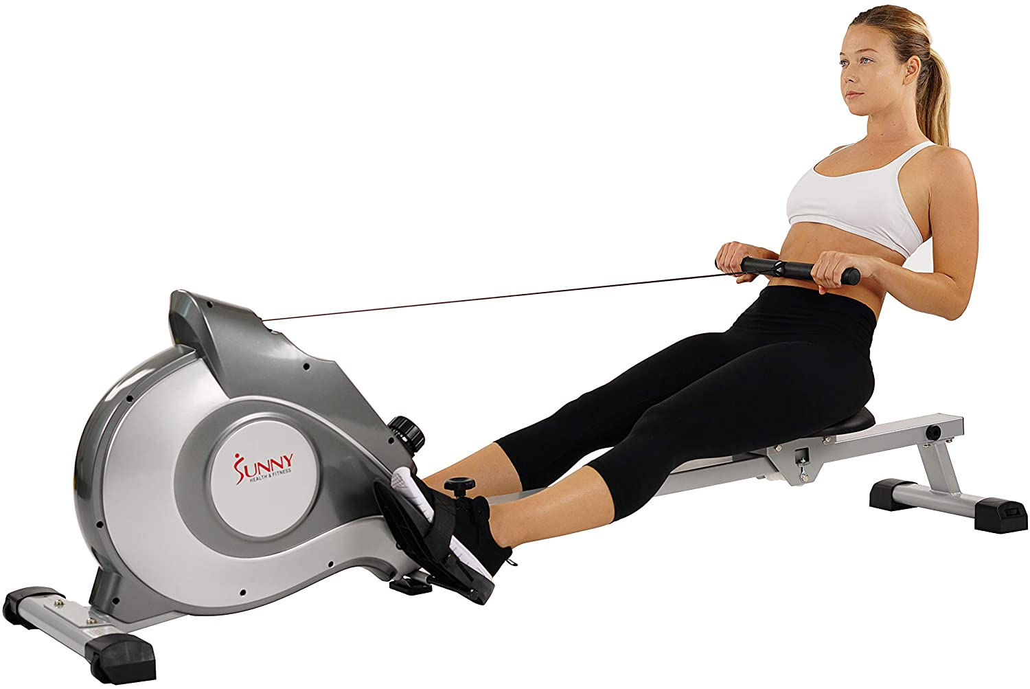 Sunny Health And Fitness SF-RW5515 Magnetic Rowing With LCD Monitor
