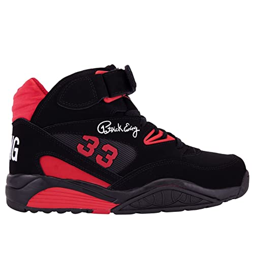 Patrick Ewing Kross - Zapatillas de Piel para Hombre Negro Negro ... 06afd81033950