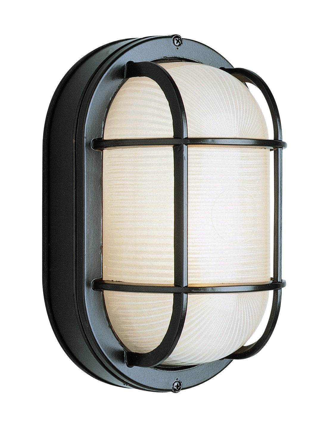 Trans Globe Lighting 41005 BK Outdoor Aria 8.5'' Bulkhead, Black by Trans Globe Lighting