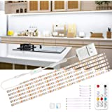 wobsion Led Under Cabinet Lighting, 6 PCS Dimmable Strip Lights with RF Remote, 12V Cabinet Lighting,High Bright with…