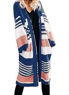 : GOSOPIN Women Open Front Pocket Cardigan Sweater