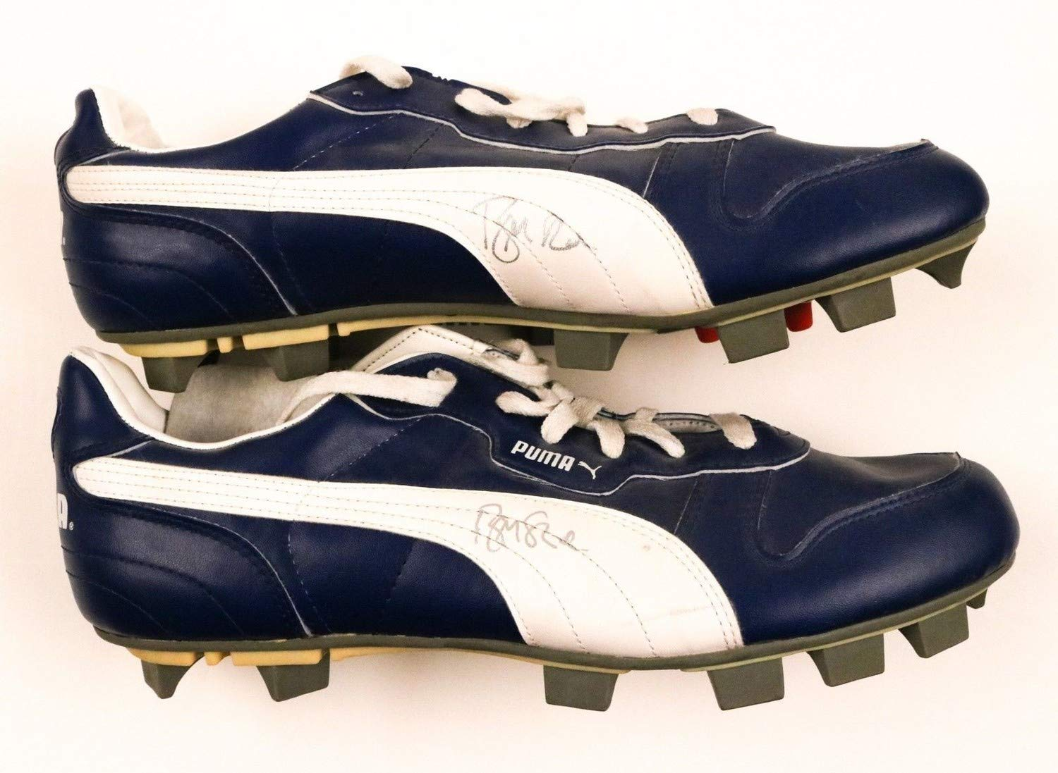 Brian Mcrae Cubs Autographed Signed Pair 2X Puma Shoes/Cleats JSA Authentic
