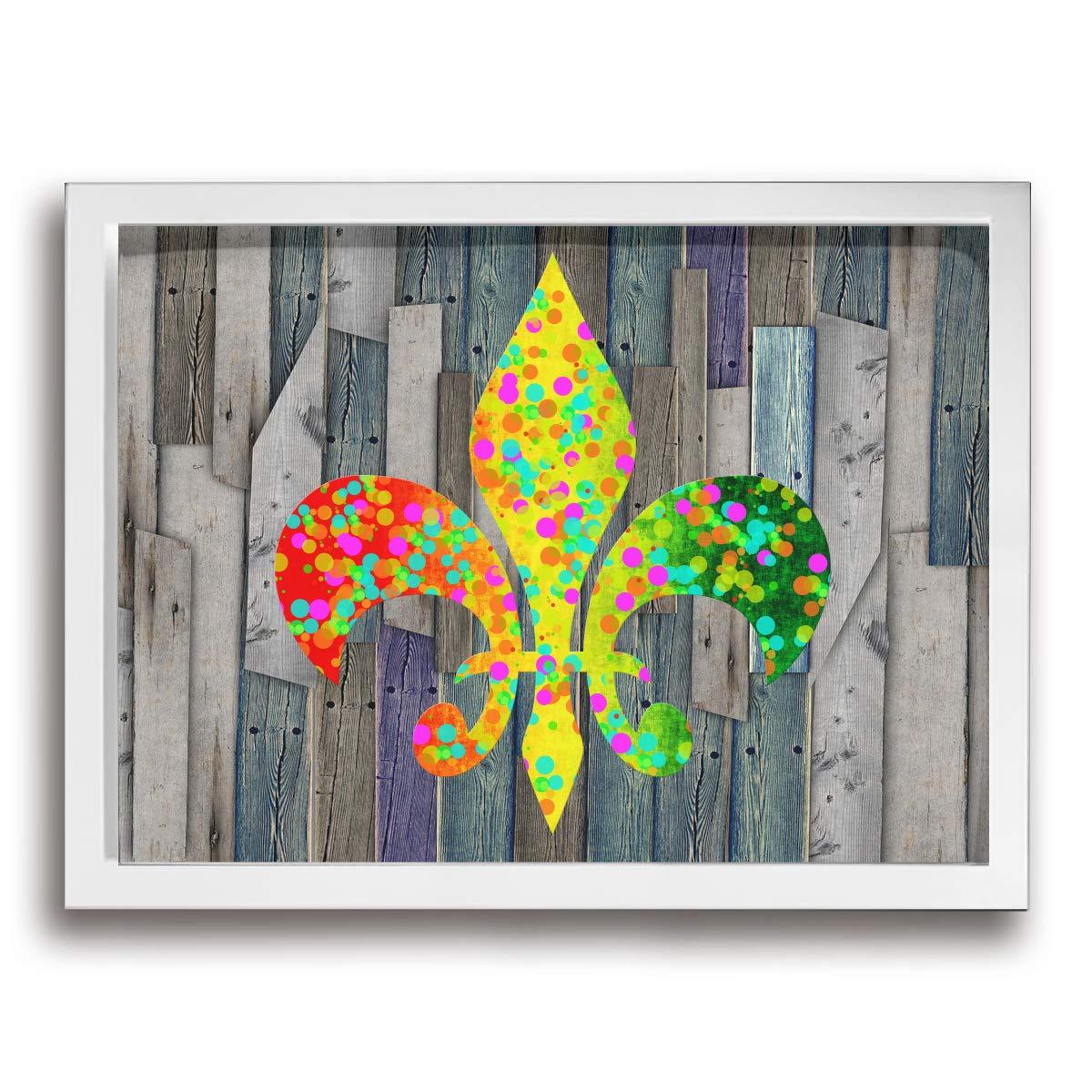 MoulMa Fleur De Lis Mardi Gras Parade -Mardi Gras Wall decor