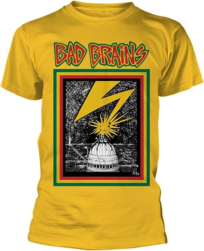 Yellow Bad Brains Rock Punk Oficial Camiseta para Hombre: Amazon.es: Ropa y accesorios