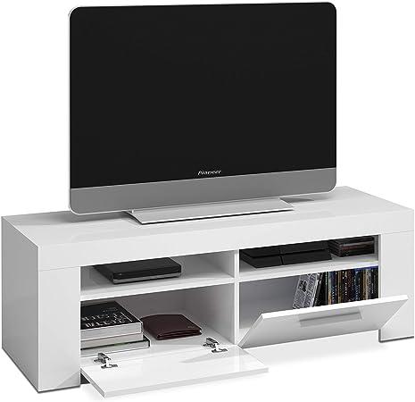 Habitdesign 006621A - Mueble de Comedor Moderno, modulo TV Salon, Modelo Ambit, Acabado en Color Blanco Artik, Medidas: 120 cm (Ancho) x 40 cm (Alto) x 42 cm (Fondo): Amazon.es: Juguetes y juegos
