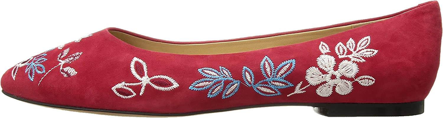 Trotters Womens Estee Embroidery Ballet Flat