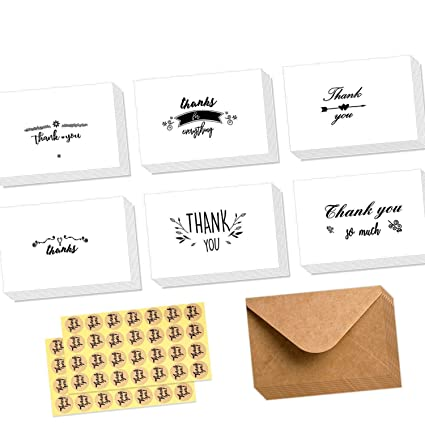 amazon com thank you cards of ohuhu 48 pack thank you notes 6