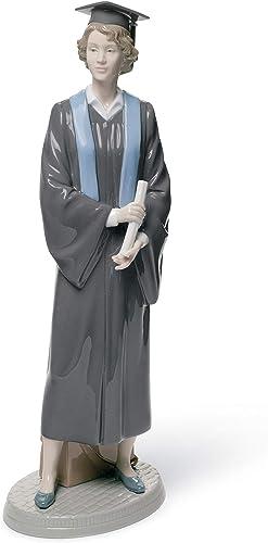 LLADR Her Commencement Woman Figurine. Porcelain Graduate Figure.