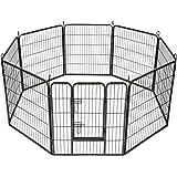 TecTake Recinto grande per cuccioli esterno recinto per cani gatti cuccioli roditori 8Pz