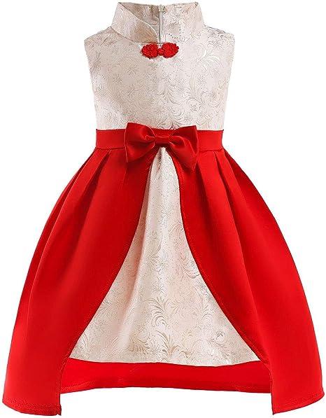 XCXDX Falda De Niña Flor, Vestido Estilo Chino, Belleza Oriental ...