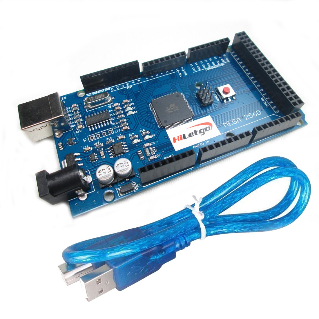 HiLetgo Mega2560 R3 ATMEGA16U2 CH340 Microcontroller Board Development Board Compatible to Arduino With USB Cable