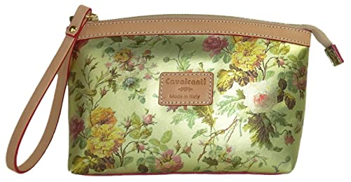 29af945b5b Image Unavailable. Image not available for. Colour  Cavalcanti Collection  Wristlet Gold Wild Rose Leather Pouch
