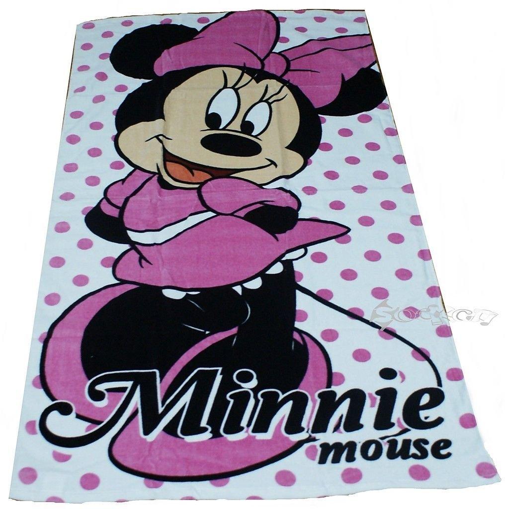 KidCo Official Disney Minnie Mouse Pink Polka Dot Cotton Beach Bath Towel
