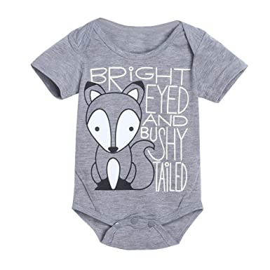 8e5f202f7 Amazon.com  Clothful 💓 Newborn Infant Baby Boys Girls Fox Letter ...
