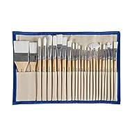 CONDA Paint Brushes Set Professional Wood Handle with Case 24 pcs Chrismas Gift