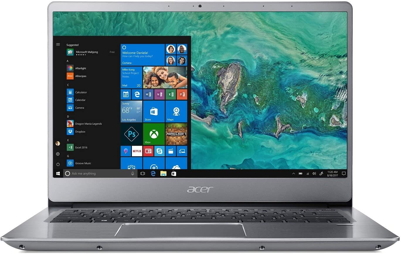 Acer Swift 3 SF314-54-56L8, 14in Full HD, 8th Gen Intel Core i5-8250U, 8GB DDR4, 256GB SSD, Windows 10, Silver (Renewed)