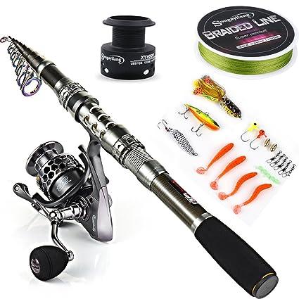 Amazon Com Sougayilang Spinning Fishing Rod And Reel Combos