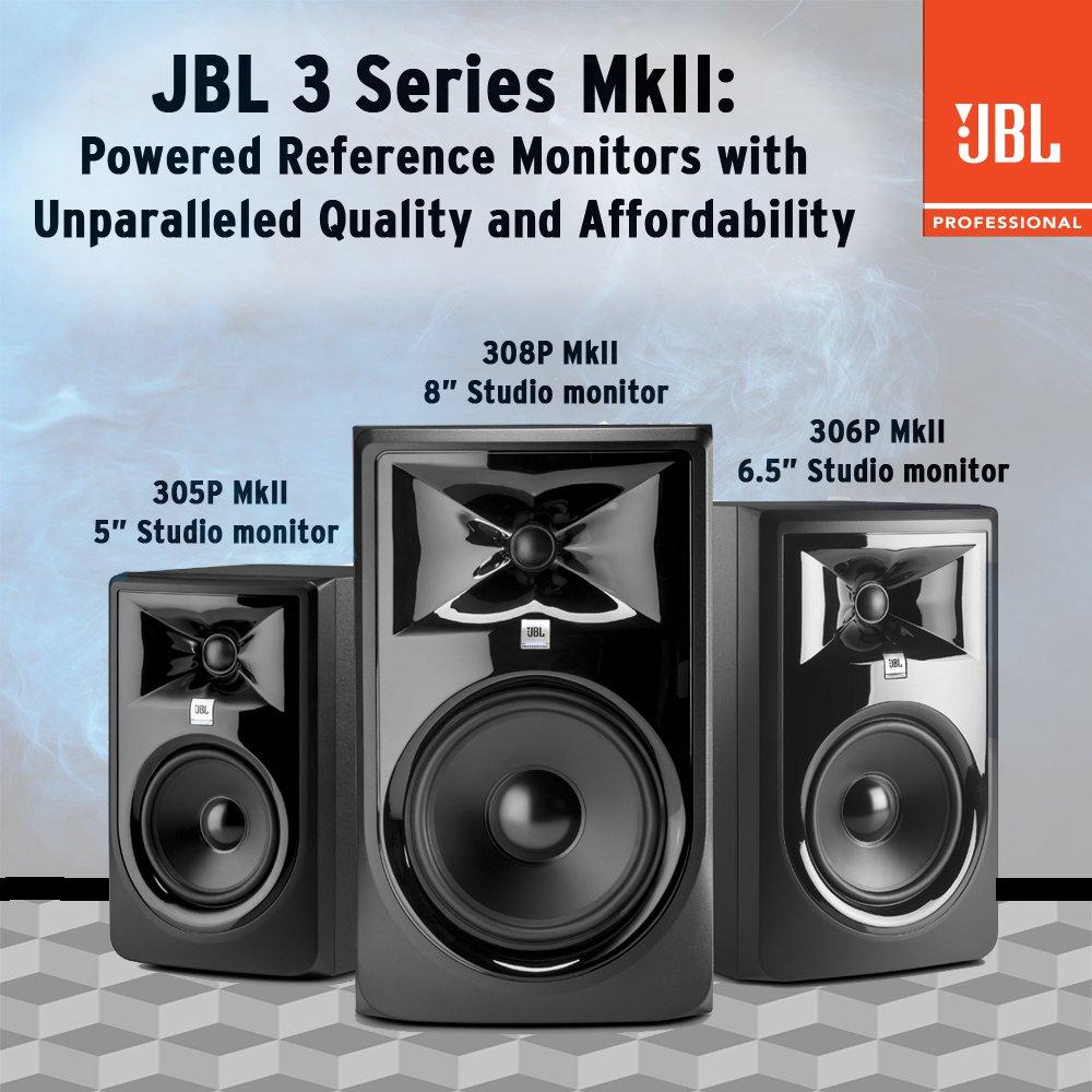 JBL 306P MkII 6'' 2-Way Powered Studio Monitor (new model) by JBL Professional (Image #6)