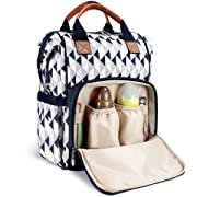 Diaper Bag Backpack by HYBLOM, Waterproof Multi-Function Diaper Backpack, Durable 12 Compartment Pockets, Blue