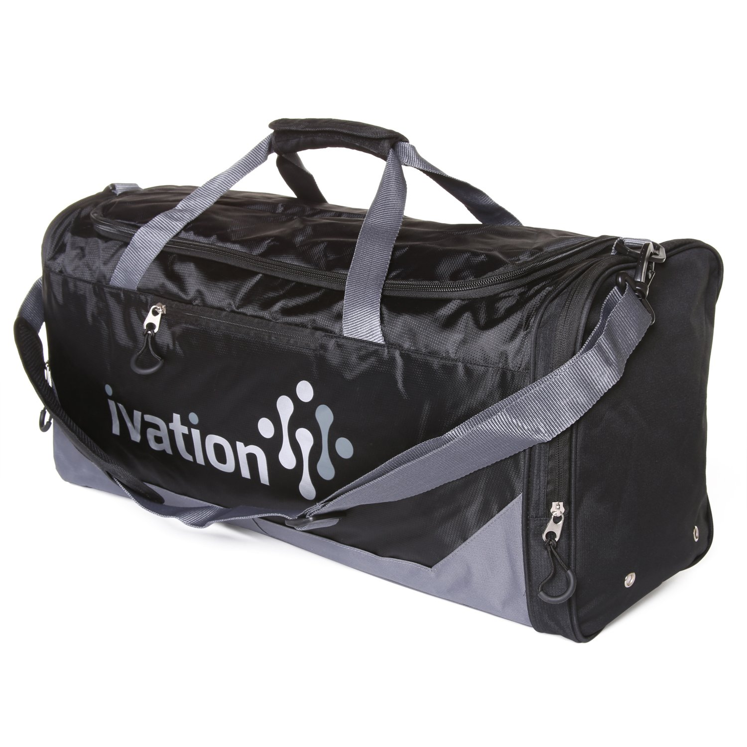 Ivation Sports Gym Duffel Bag - 100% Water-Repellent Polyester - Ideal for  Gym 95ebc683d8056