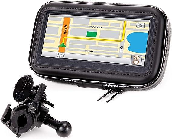 Soporte para Manillar de Moto /& Funda Impermeable 6/'/' /& 7/'/' Pulgadas GPS