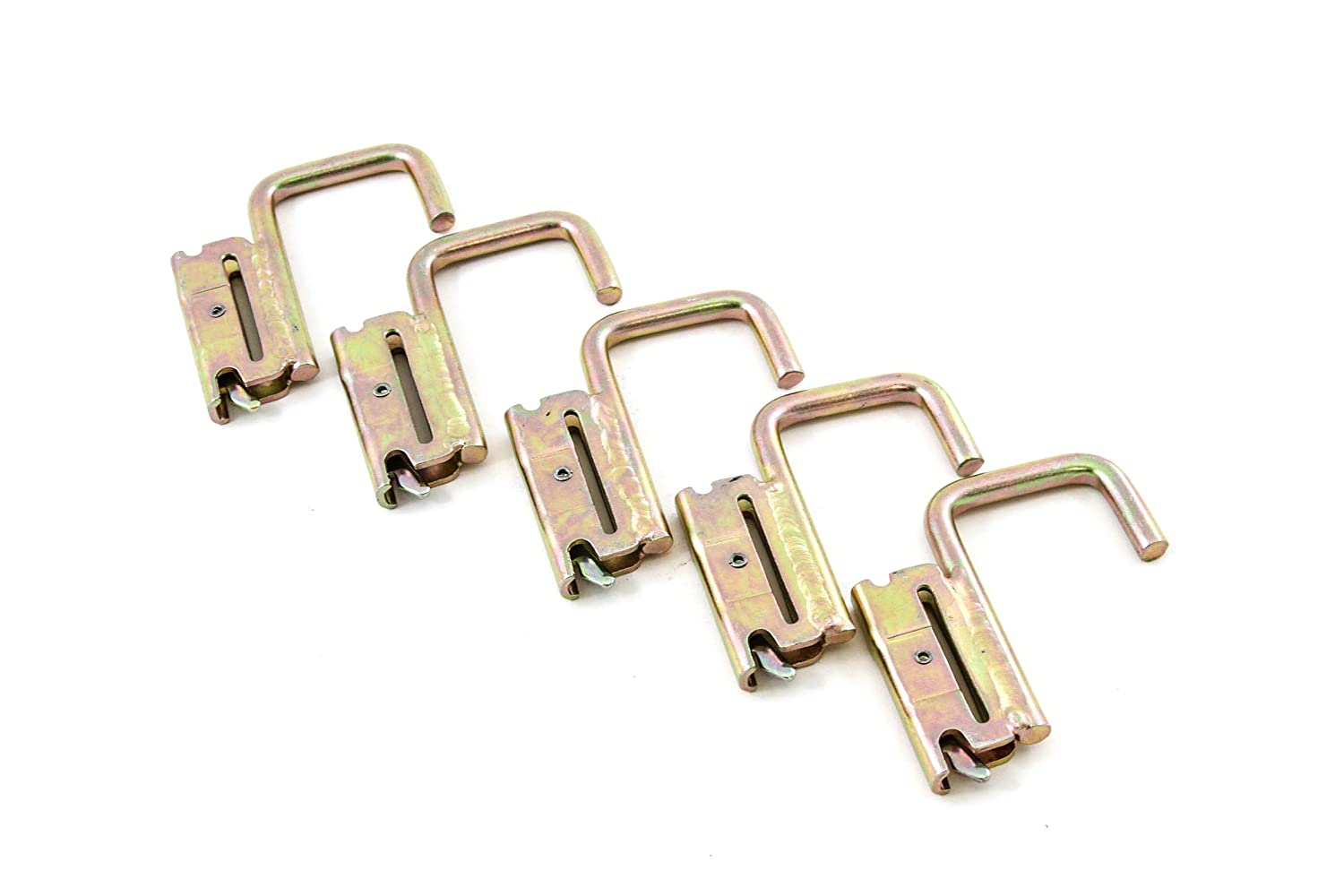Red Hound Auto 5 Square J Hooks for E Track System Trailer Flatbed Jacket Rack