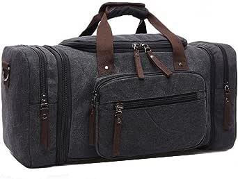 Canvas Duffel bag Overnight Travel Bags Travel Duffel Bag for Men Canvas&Leather gym Bag women