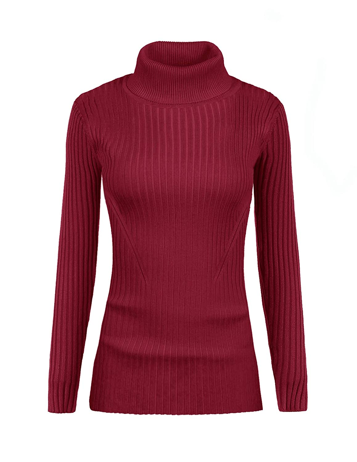 v28 Women's Sleeveless Ribbed High Neck Turtleneck Stretchable Knit Sweater Top