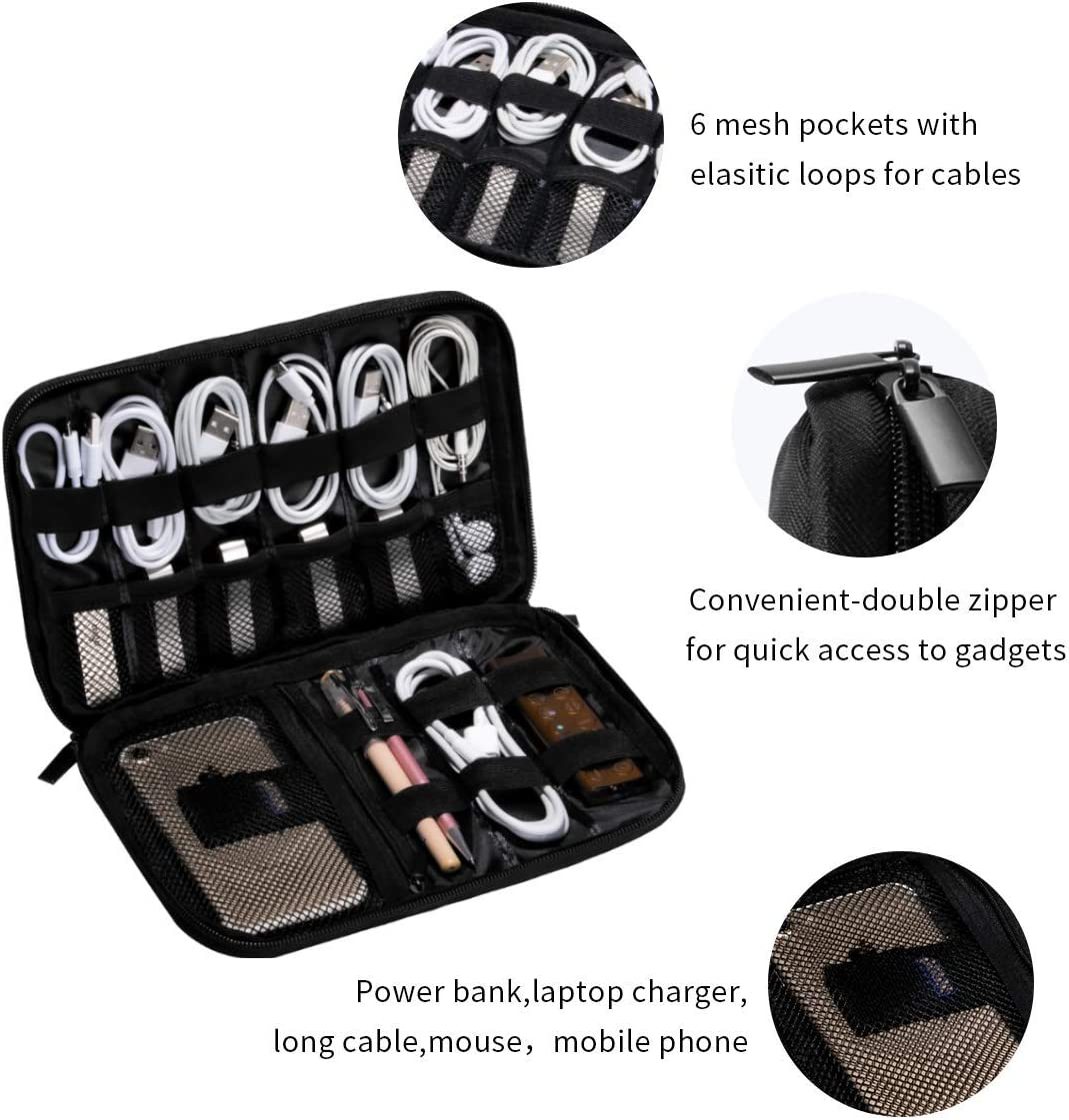 Ramones Logo Data Line Storage Bag Protective Case Fit USB Earphone SD Card Charger