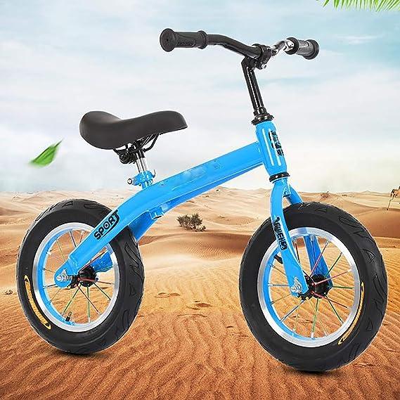 MMGIRLS Bicicleta de Equilibrio de Dos Ruedas: Bicicleta de Entrenamiento para niños con Manillar y Altura del Asiento Ajustables, Planeador/Deslizador para niñas niño,3.Blue: Amazon.es: Hogar