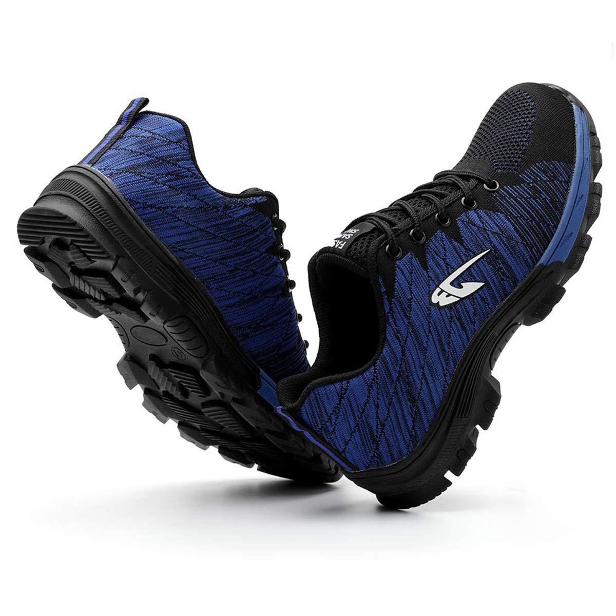 HYHAOO Zapatos de Seguridad para Hombre Transpirable Ligeras con Puntera de Acero Zapatillas de Seguridad Trabajo Unisex Calzado de Industrial y Deportiva