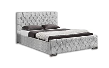 Unmatchable Ottoman Storage Diamond Design Upholstered Bed Frame In
