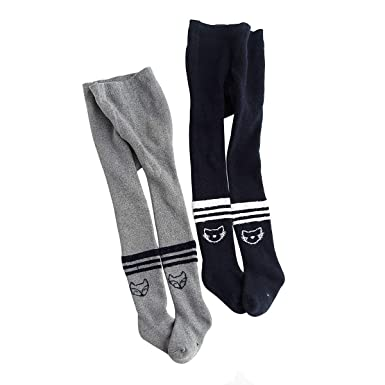 39bbc8558f512 Rallytan Girls Pantyhose Winter Cotton Warm Footed Thick Leggings 2 Pair  Pack