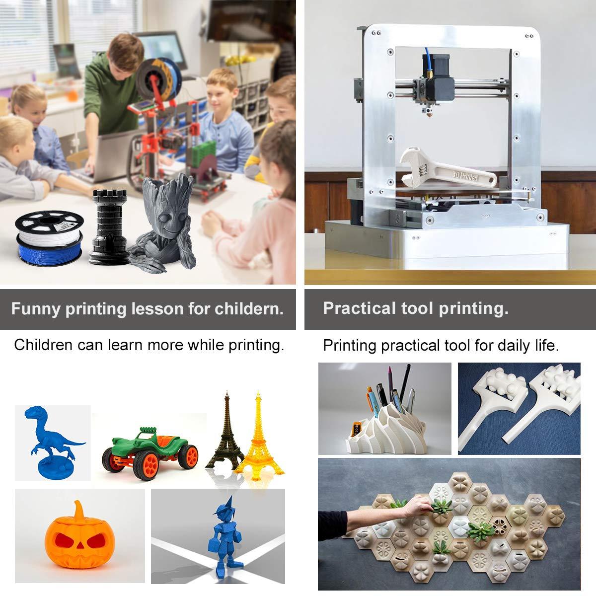 Enotepad PLA 3D imprimante Filament,PLA Filament 1.75mm,Pr/écision dimensionnelle 1,75 /± 0,02 mm,PLA Fibre de carbone 1KG