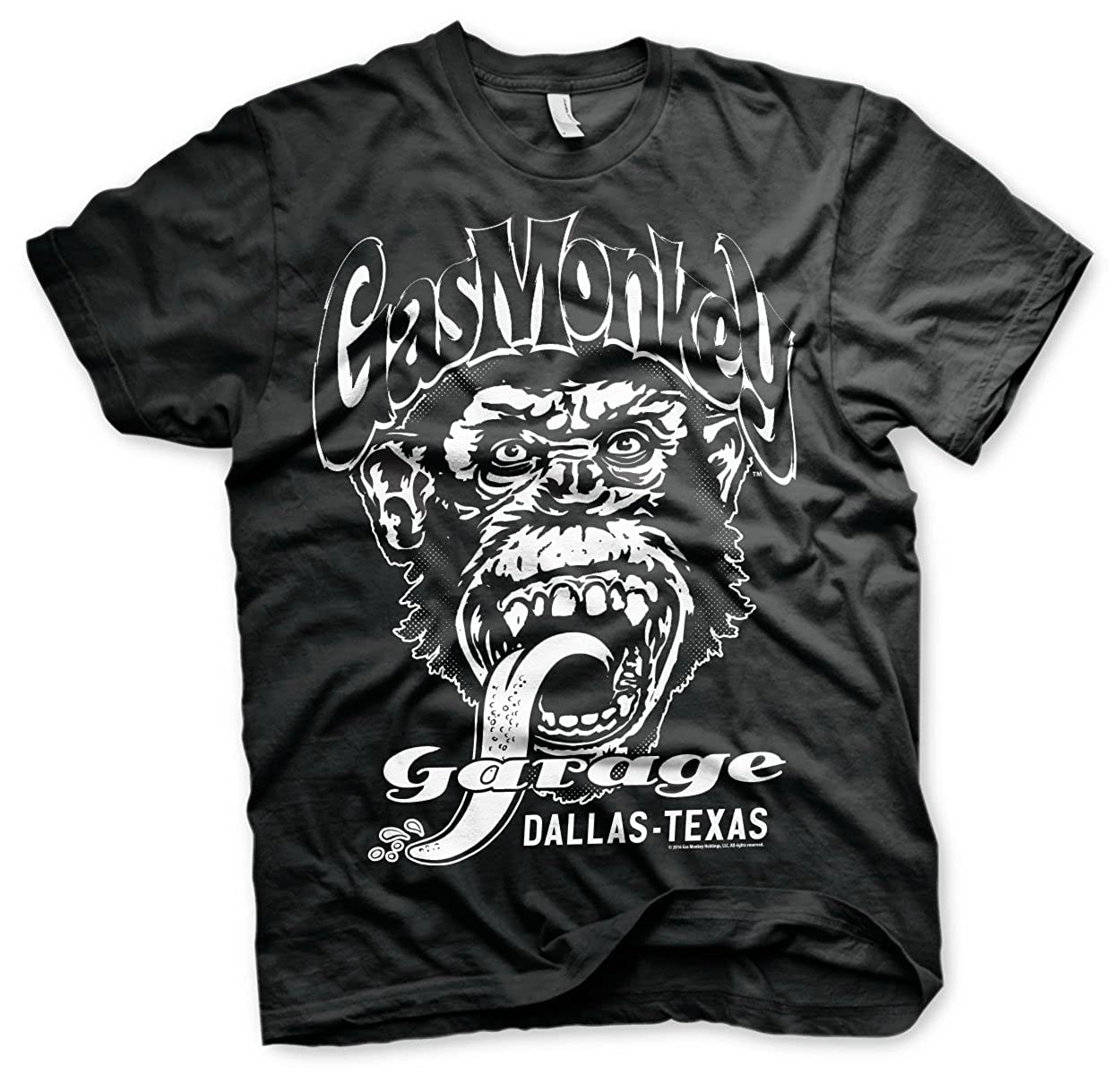 Mercancía Con Licencia Oficial Gas Monkey Garage - Dallas Texas T-Shirt (Negro)