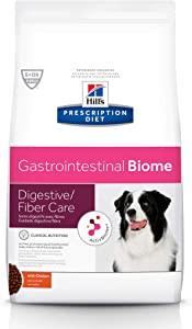 Hill's Prescription Diet Dry Dog Food, Veterinary Diet, Gastrointestinal Biome Digestive/Fiber Care, Chicken
