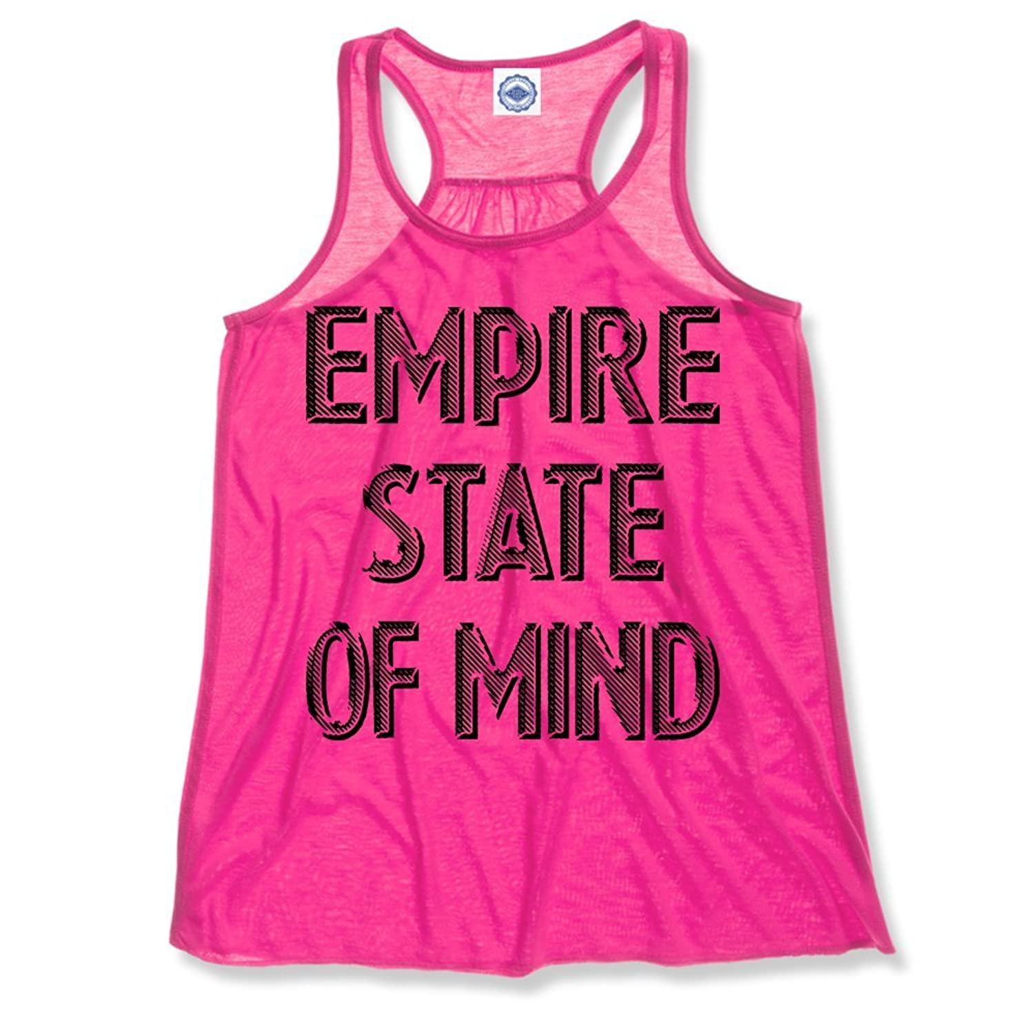 Hank Player 'Empire State Of Mind' Women's Draped Racerback Tank