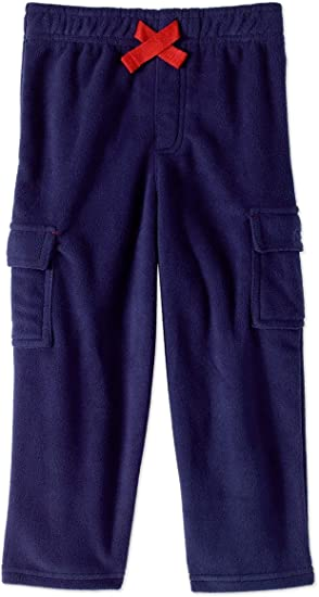 THE CHILDREN/'S PLACE Baby Boy/'s Blue Pull On Fleece Faux Cargo Pants