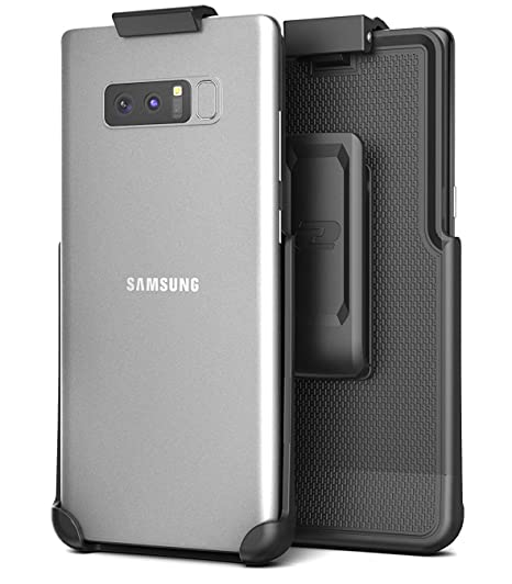 Encased Galaxy Note 8 Belt Clip Holster, Secure-fit Case Free Design  (Companion Series (Smooth Black)