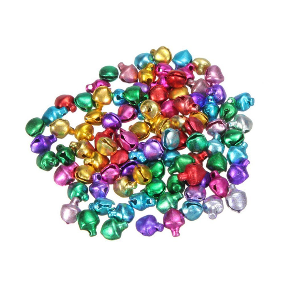 Mini Jingle Bells Christmas Decoration DIY Crafts Loose Beads 100PCS by Einfachheit (0.3'')