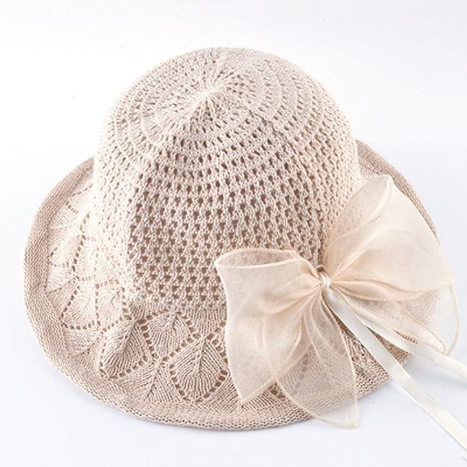 c7e18994ab1c AOBRITON Natural Straw Sun Hat Women's Summer Bucket Cap Ladies Wide ...