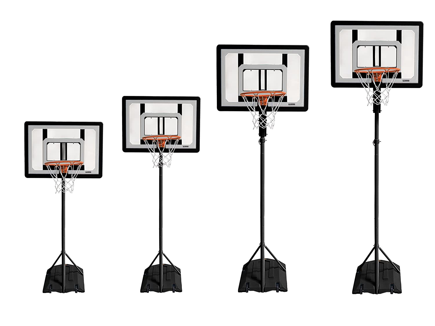 "Adjustable Height 3.5 ft HP08-000 and 7/"" Mini Ball SKLZ Pro Mini Basketball Hoop System -7 ft"