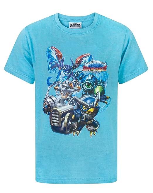 4bddcb196 SKYLANDERS - Camiseta de manga corta - Camiseta gráfica - Manga corta - para  niño Azul azul  Amazon.es  Ropa y accesorios