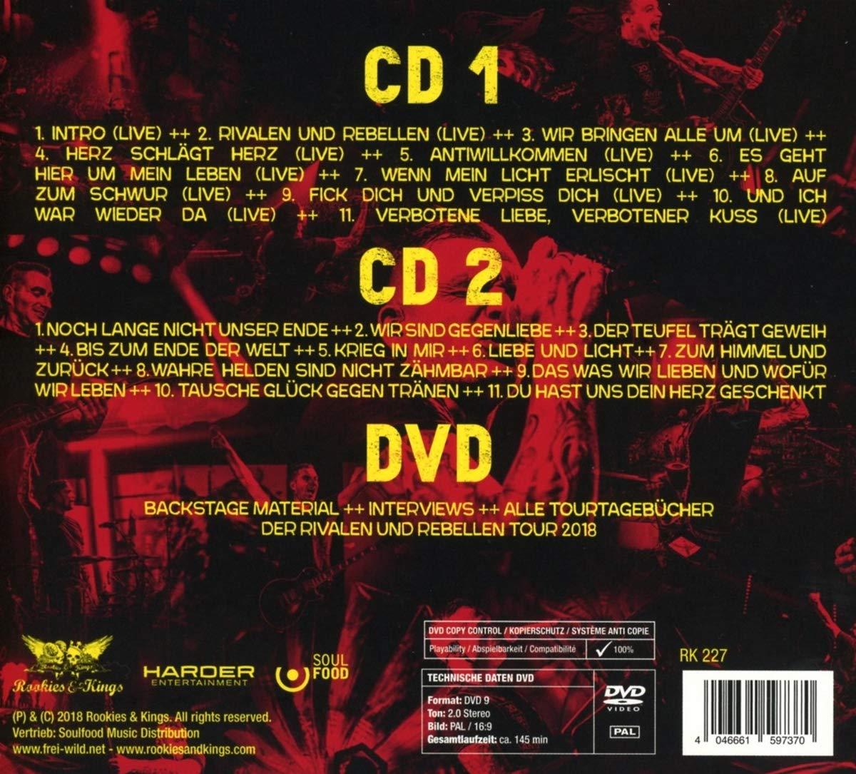 Rivalen Und Rebellen Live More Ltd Edition 2cddvd Digipak
