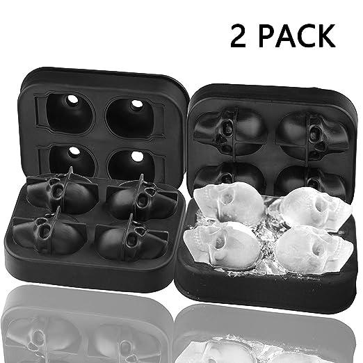 ieasky - Molde para cubitos de hielo con tapa de silicona y diseño ...