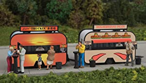 Walthers Scenemaster BBQ & Taco Food Trailers -- Kit